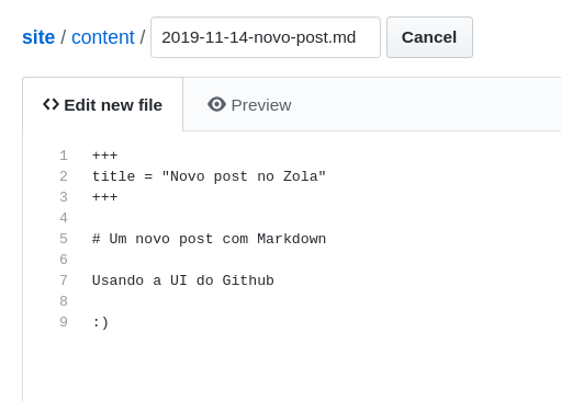 git new file