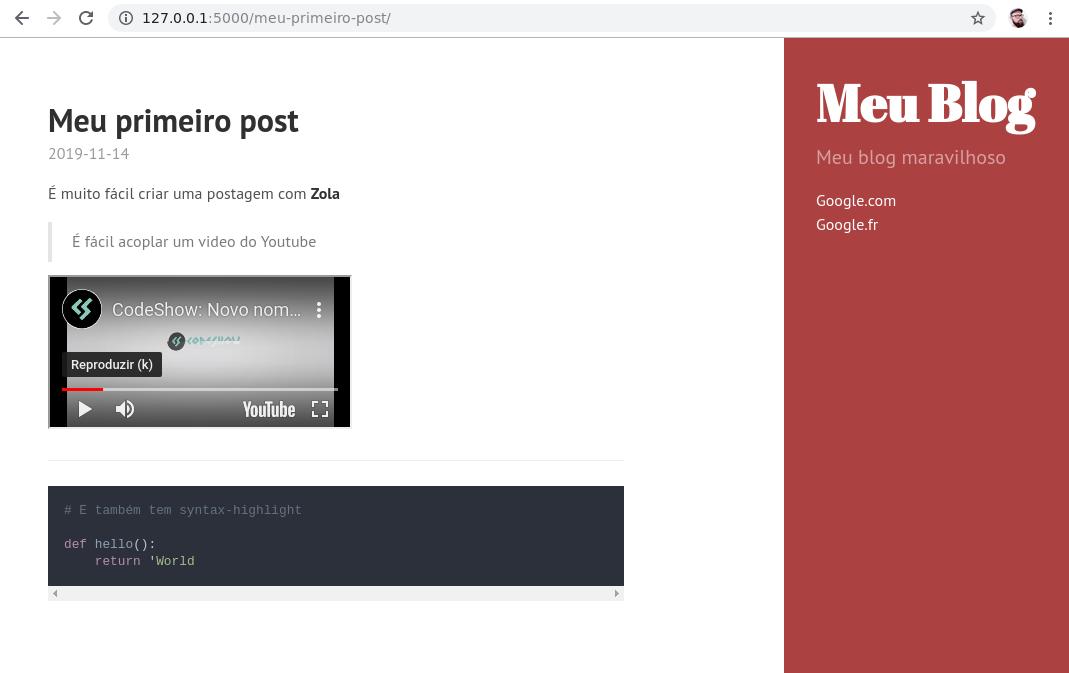 meu blog maravilhoso